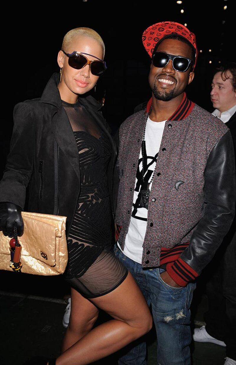 Amber y Kanye mantuvieron un noviazgo de 2008 a 2010.