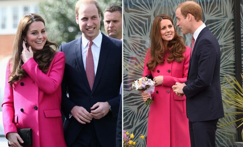 El príncipe William todo el tiempo se mostró atento y bromista con su esposa.