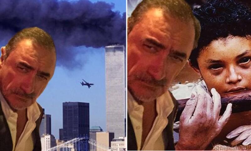 Los memes con fondos trágicos como el atentado de las Torres Gemelas.