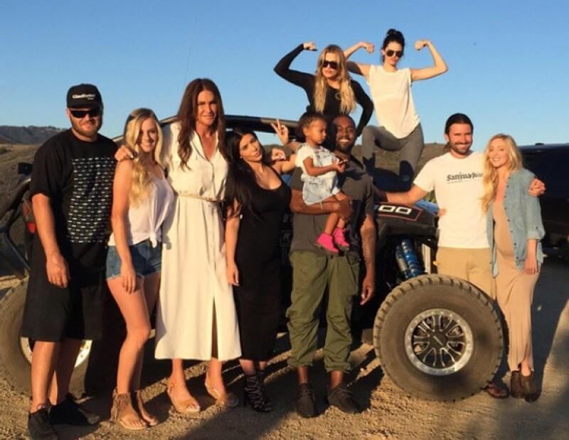 Caityn Jenner junto a su familia.