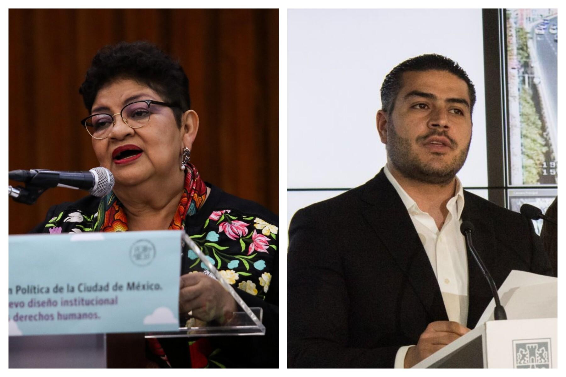 Ernestina Godoy y Omar García Harfuch