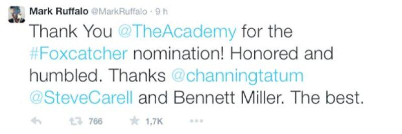 Mark agradeció tanto a la Academia como a sus seguidores por el apoyo y oportunidad.