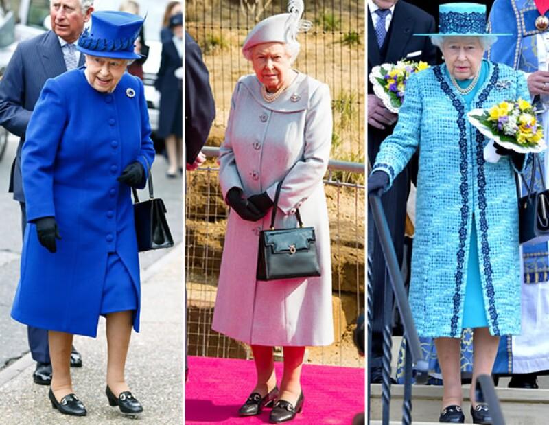 La reina Isabel II le es fiel a sus trajes sastres y looks monocromáticos.