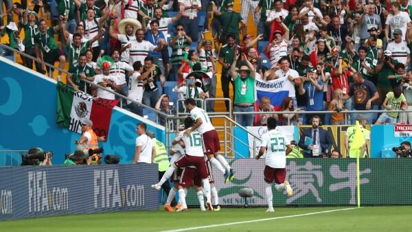 Tras el triunfo ante Corea del Sur, México es líder del grupo F