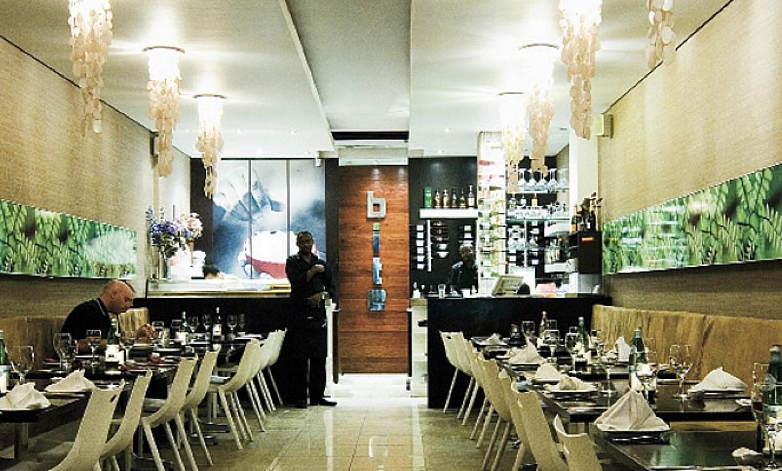 El restaurante Bite en Johannesburgo es uno de los muchos locales que a pesar de tener un espacio reducido es popular por su comida de clase mundial.