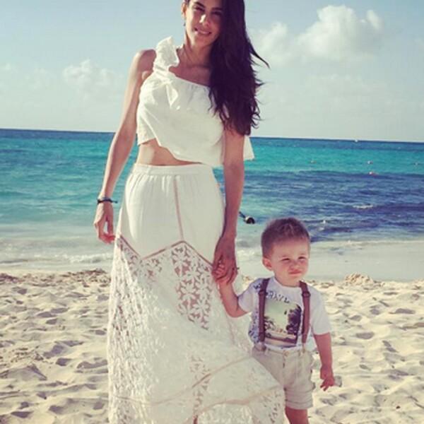 Sandra Echeverría muestra lo mucho que ha crecido Andrés