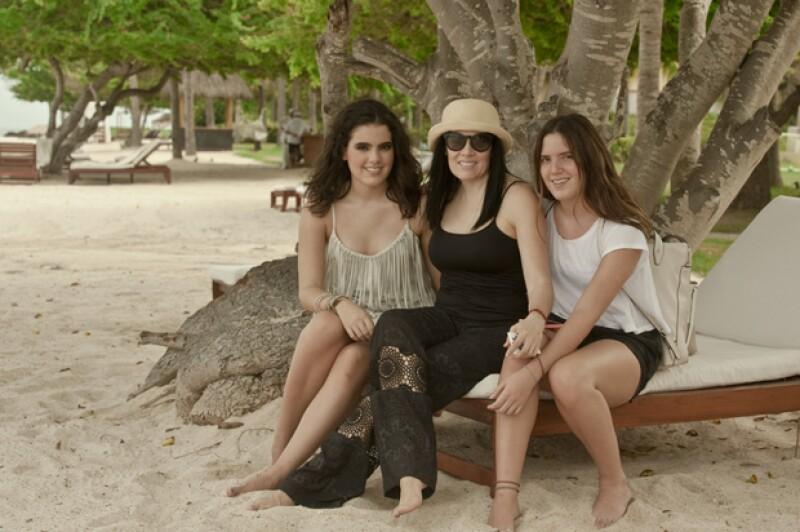 América Guinart sorprendió a sus hijas en el shooting, ella se portó de lo más respetuosa con la producción de Quién®.
