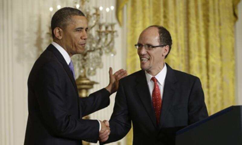 Es posible que el nombramiento de Thomas Pérez (d) se tope con la oposición republicana. (Foto: AP)