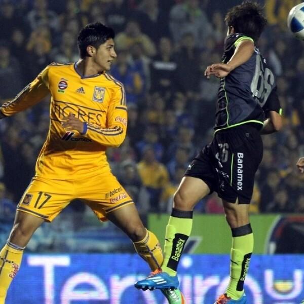 Alán Pulido adelantó a Tigres que no pudo mantener el marcador