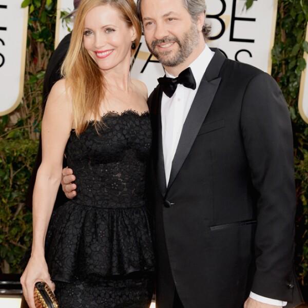 El prolífico productor de series como Girls, Judd Apatow llegó acompañado de su esposa, la también actriz Leslie Mann.