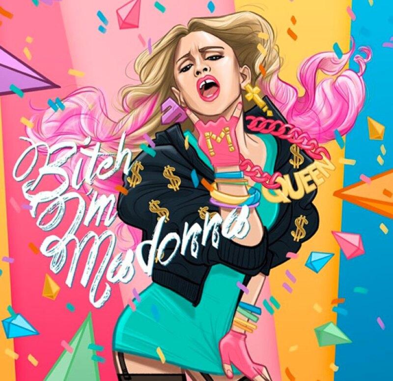 Muy al estilo de Taylor Swift, la reina del pop revela el video de su nuevo sencillo Bitch I'm Madonna.