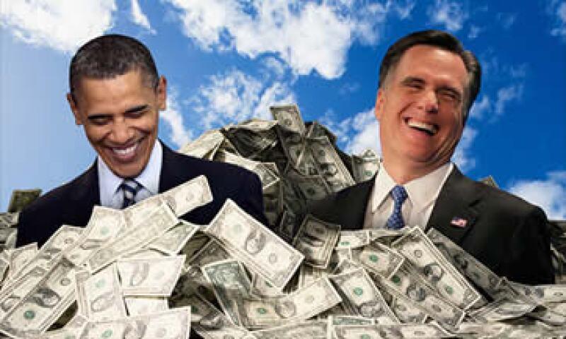 Tanto Obama como Romney han reportado resultados favorables en materia de recaudación de fondos en sus campañas. (Foto: Cortesía CNNMoney)