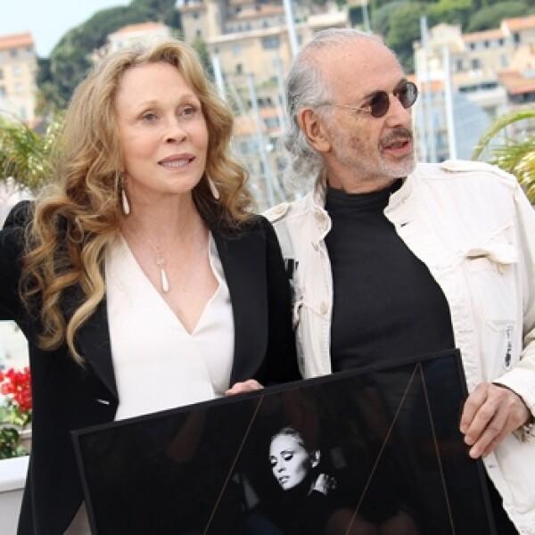 director jerry schatzberg y la actriz faye dunaway