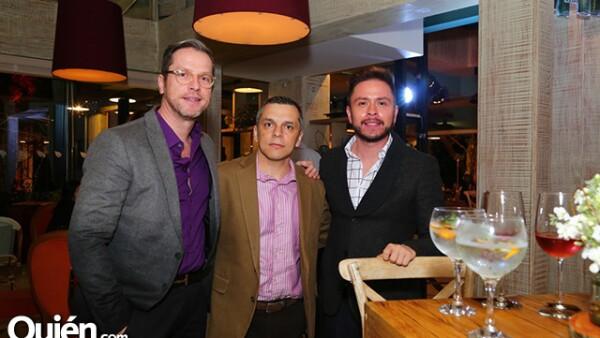 Peter Lampe,José Luis Serrato y Rafael Ruiz