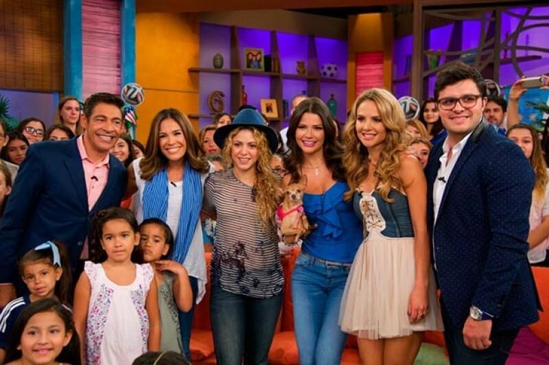 Previamente, Shakira estuvo como invitada en el programa Despierta América.