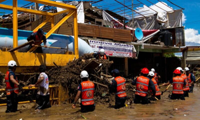 Los tormentas en el país dejaron daños por más de 75,000 millones de pesos, según los primeros cálculos. (Foto: Notimex)