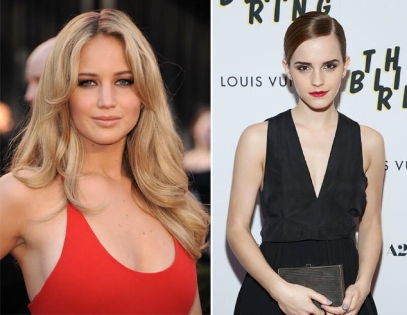 Jennifer Lawrence y Emma Watson son jóvenes famosas y millonarias.