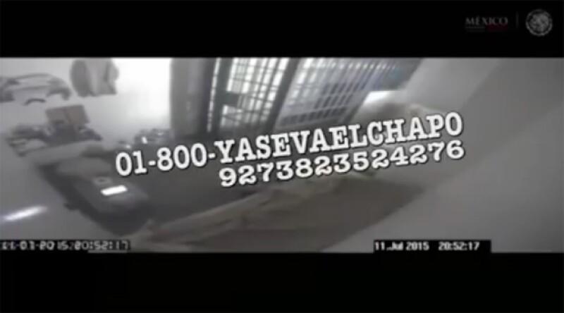 """Un """"número"""" al que llamar en caso de que se descubra el momento en el que se escapó."""