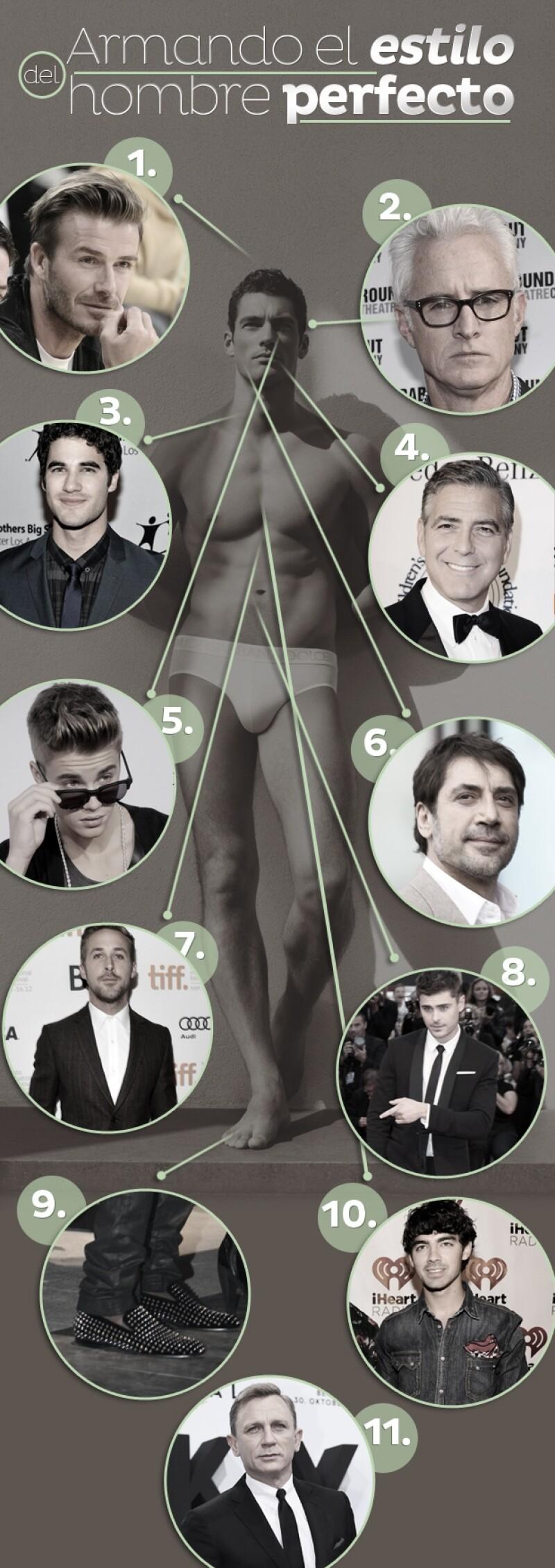 Tomamos lo mejor de los look de más de diez famosos para crear el estilo al vestir del hombre nuestros sueños. Y así se vería...