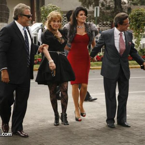 Jaime y Tony Camil,Mariana Tort y Carlos Peralta