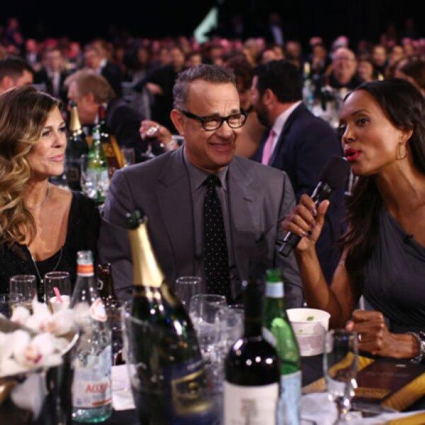 Rita Wilson, Tom Hanks y Aisha Tyler.