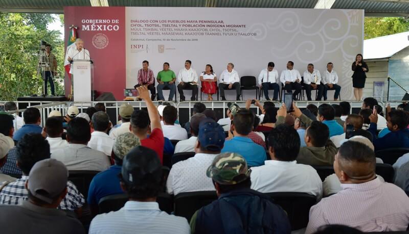 AMLO en Calakmul
