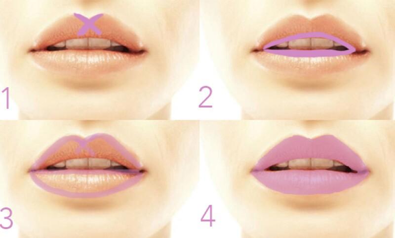 Con este truco, lograrás que la forma de tus labios sea perfecta.