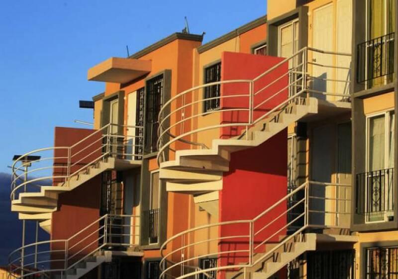 Casas en una construcción de viviendas de Homex,