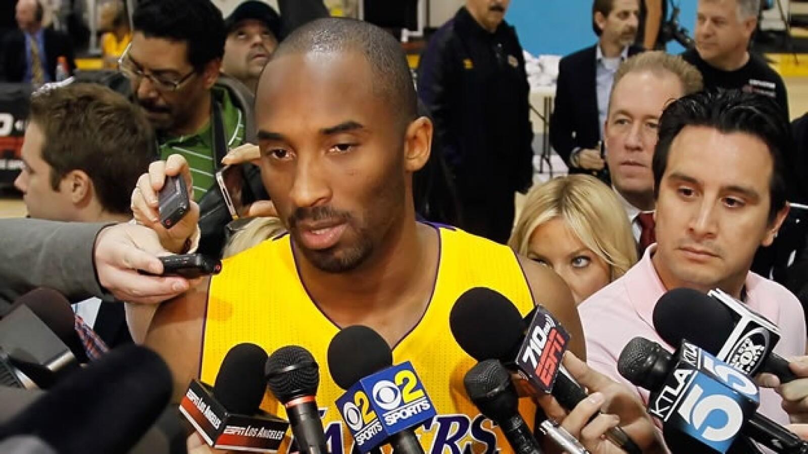 Kobe Bryant en conferencia de prensa