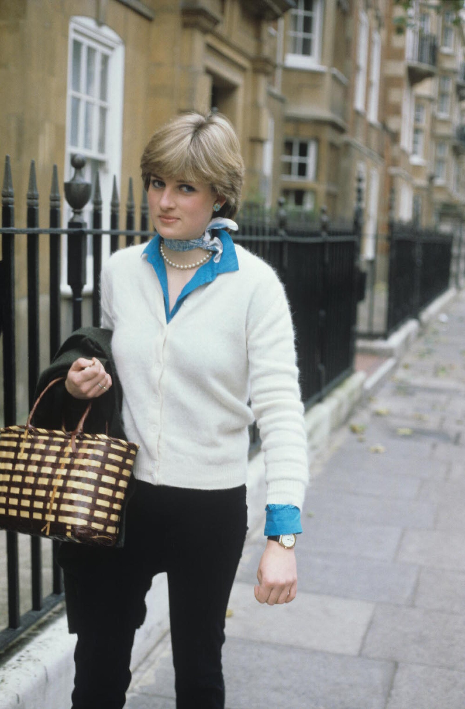 PRINCESS DIANA WHEN SHE WAS LADY DIANA SPENCER, WORKING IN A NURSERY, BRITAIN - 1980
