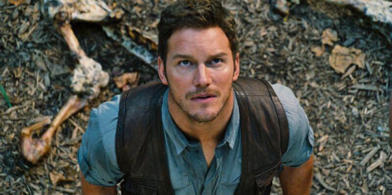 Chris Pratt en una de las imágenes de la película Jurassic World.