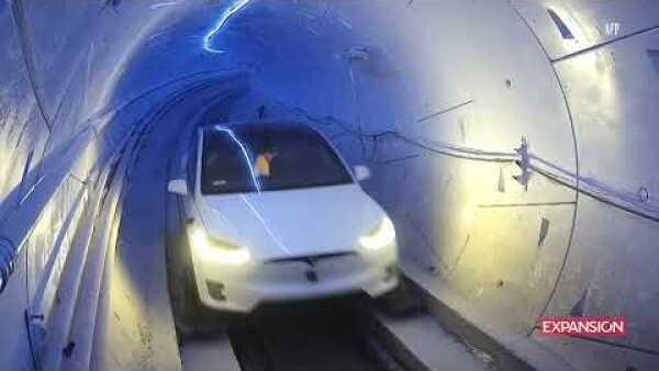 VIDEO Así luce el primer tramo de Loop, el túnel de transporte de alta velocidad