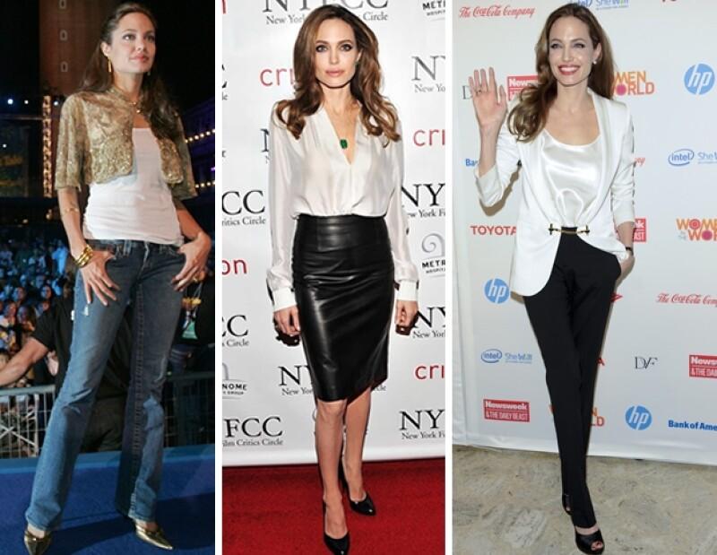 Angelina lleva con Brad Pitt siete años.