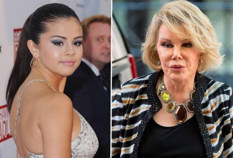 Selena Gomez fue atacada por Joan Rivers tras solidarizarse con el pueblo palestino.