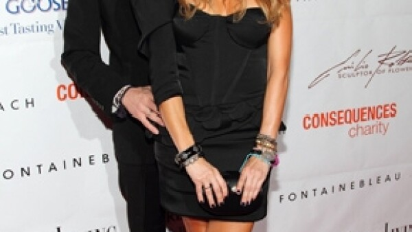 Paulina y Colate en 2010. La pareja se separó a inicios de este año.