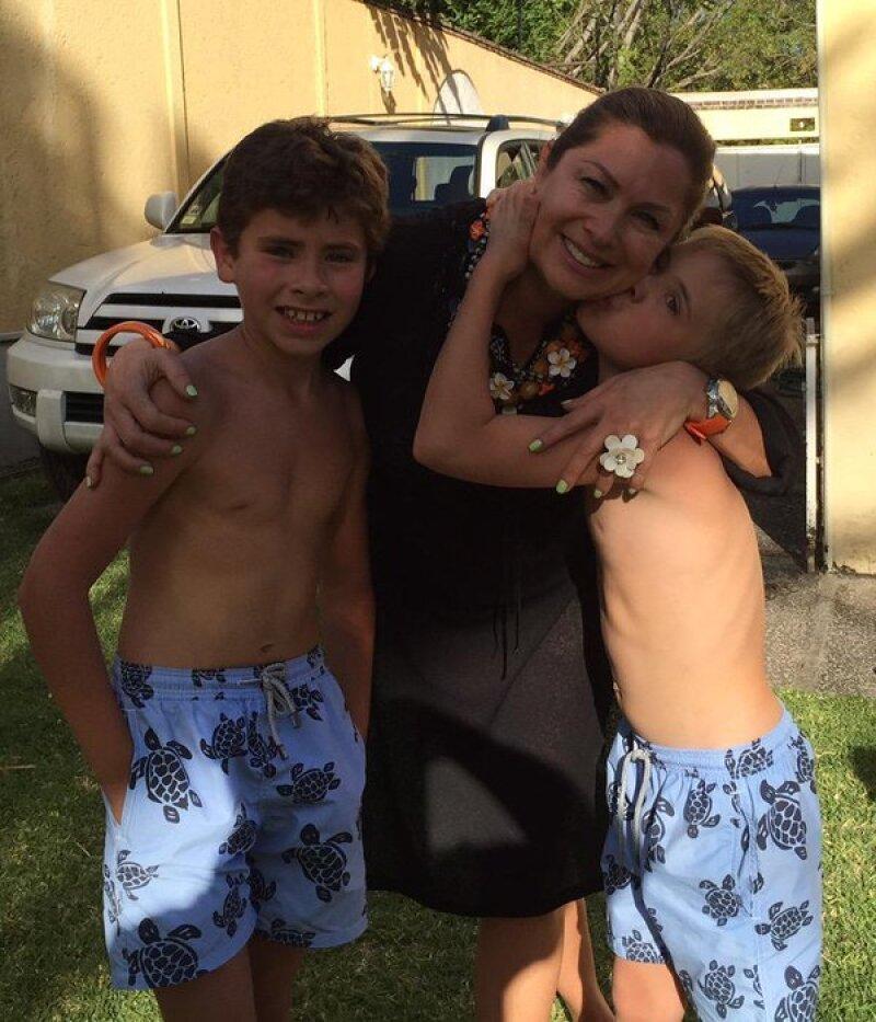Leticia Calderón de vacaciones con sus hijos