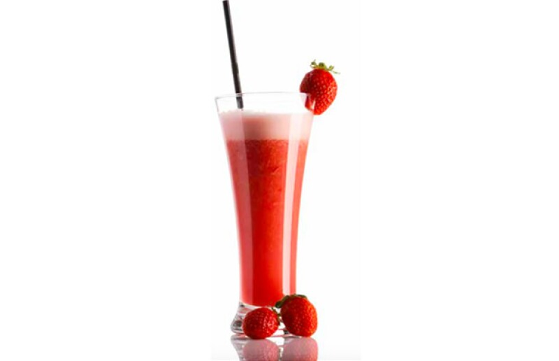 Smoothie de frutos rojos.