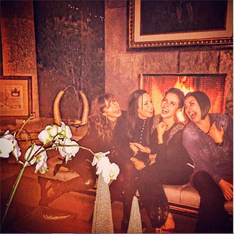 A unos días de Navidad, la actriz y la conductora se reunieron con amigas para celebrar lo bueno que les dejó 2014 y desearse un buen 2015.
