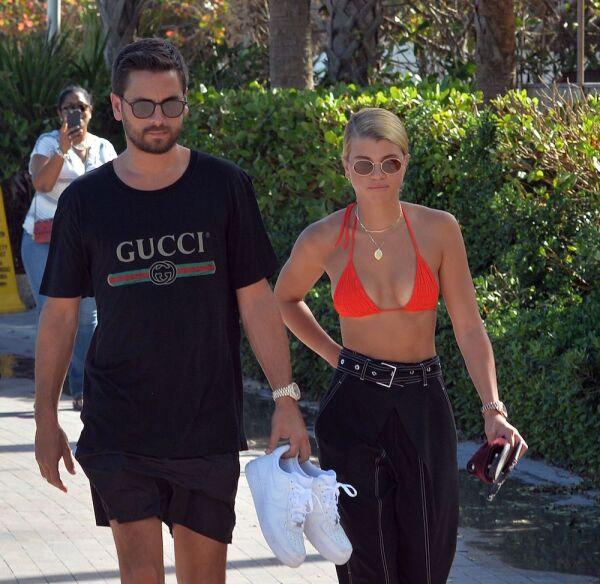 Scott Disick and Sofia Richie out and about, Miami Beach, USA - 23 Sep 2017