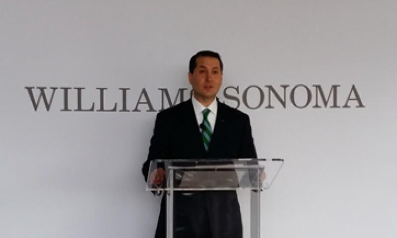 Alejandro Mallet, director de boutiques de Liverpool, en la presentación de la nueva marca en México. (Foto: Ilse Santa Rita)