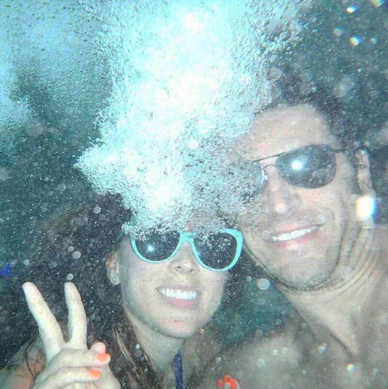 Tanto Jacky como Martín disfrutan de su momento a solas en las Bahamas.