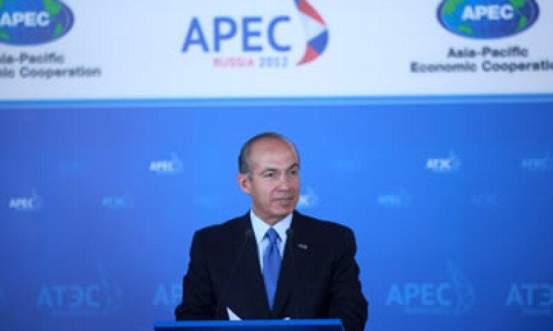 Calderón dijo que en la APEC se hizo énfasis en la importancia de rechazar el proteccionismo. (Foto: Notimex)