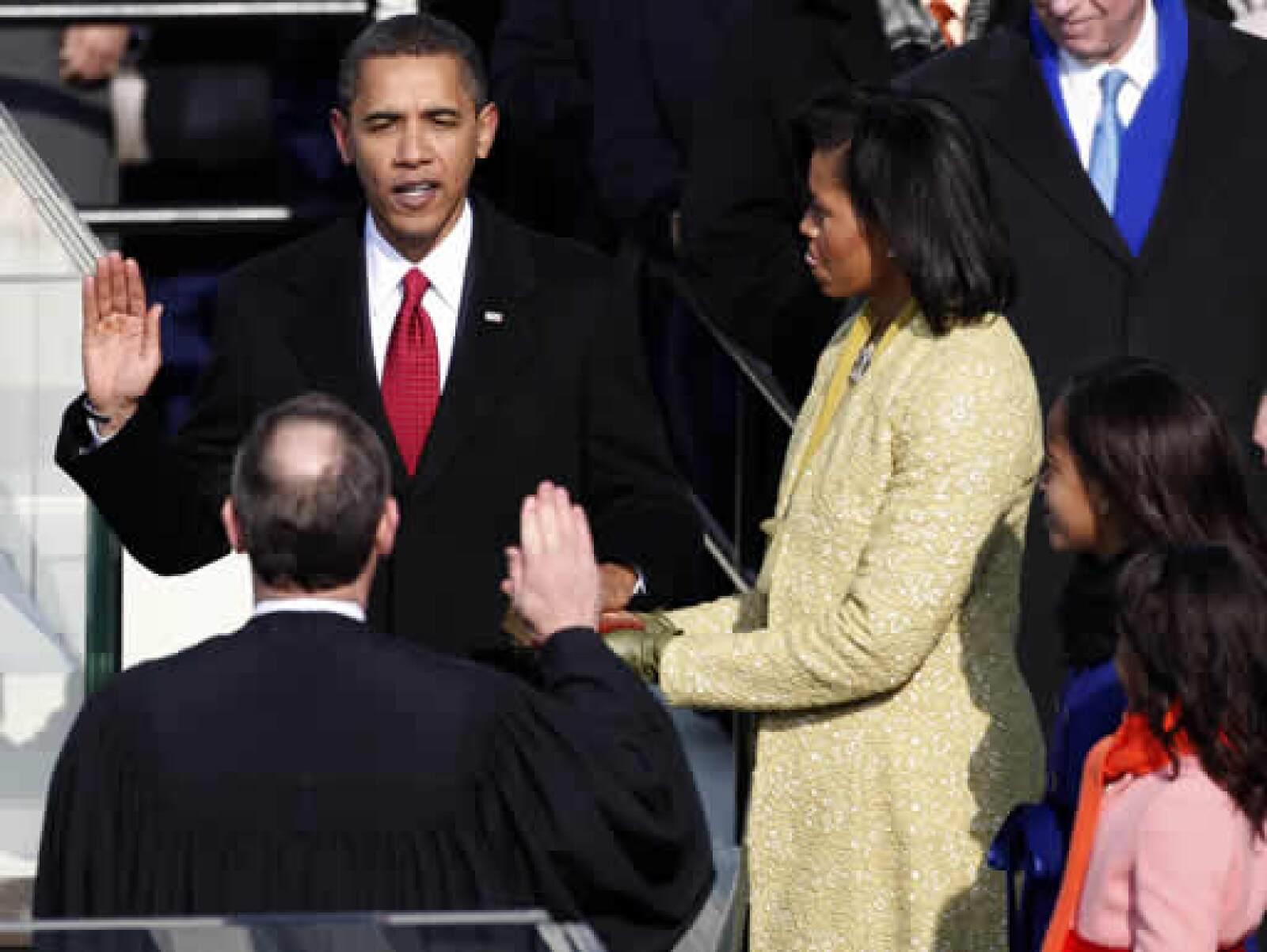 Barack Obama, al momento de jurar como mandatario 44 de EU.