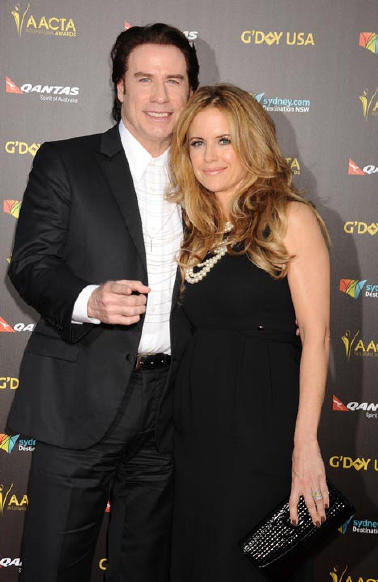 Kelly Preston y John Travolta.