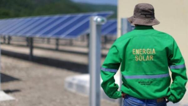 Planta de energ�a solar en Guatemala