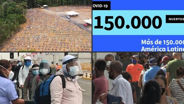 América Latina y el Caribe superan los 150,000 muertes por COVID-19(Obligatorio)