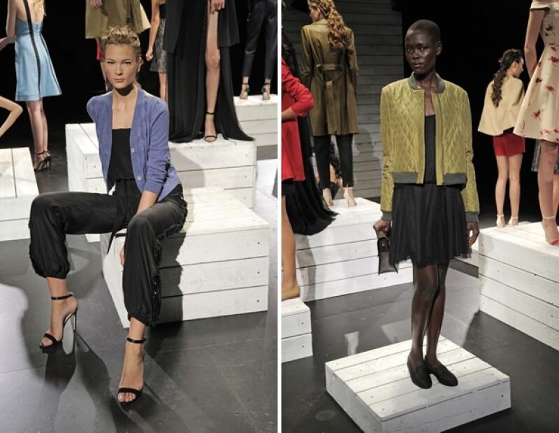 Por primera vez, la actriz y empresaria mostró sus diseños en la Semana de la Moda neoyorquina. La acompañó su socia y amiga Jeanne Yang.