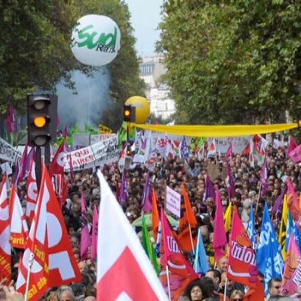 Manifestacion en Paris