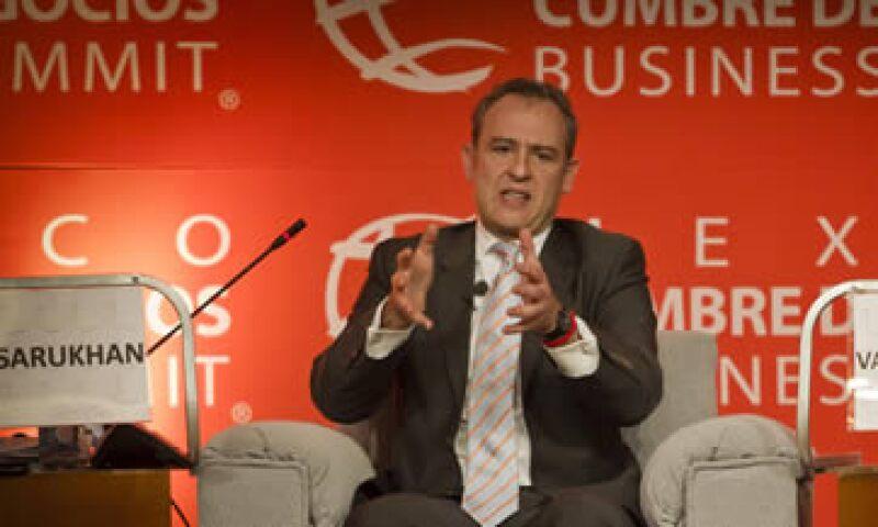 """Sarukhán participaba en un panel titulado """"¿Cuál es la agenda de la relación México-EEUU?"""" en la Cumbre de Negocios México 2011. (Foto: Carlos Aranda/Mondaphoto)"""