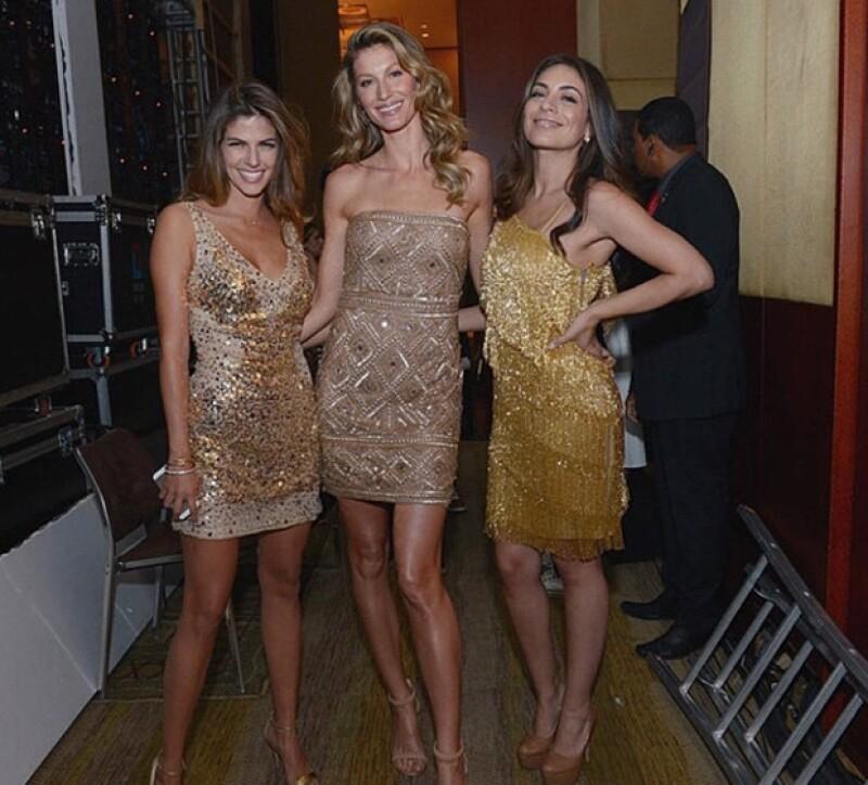 La actriz y la modelo son imagen de una marca de productos para el pelo, por lo que estuvieron juntas en Sao Paulo.